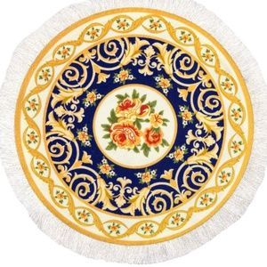 Round Rug Mouse Pad Oriental Persian Floral Mouse